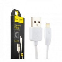USB кабель 8pin для iPhone 5/6/7 HOCO X1 Rapid charging cable Apple 1M, цвет - белый