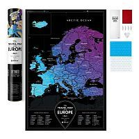 Карта Travel Map Black Europe 1DEA.me [арт. 4820191130708]