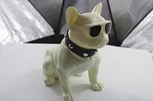 Колонка эстетическая French Bulldog Wireless Bluetooth Speaker (Bluetooth, FM, MP3, AUX), белая